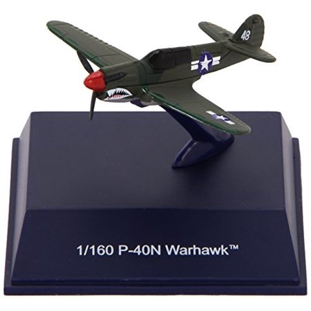 Die-Cast WWII Fighter Plane, P-40N Warhawk 1:160 Scale