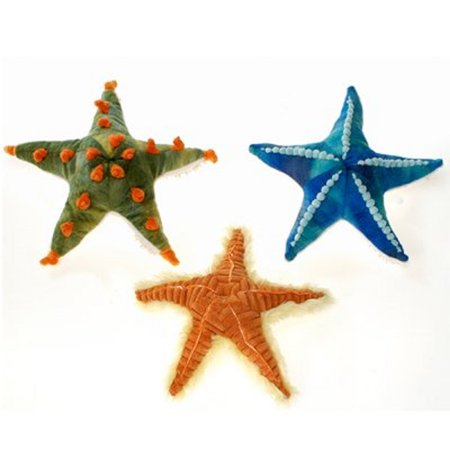 Fiesta Toys et of 3 Starfish 11'' Inches Blue Orange Green My Sealife Stuffed Plush Animal Pet](Fiesta Stuffed Animals)