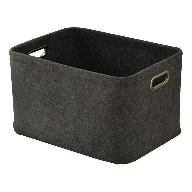 Gray Black Felt Storage Basket Closet Toy Book Box Laundry Organizer Basket Hot