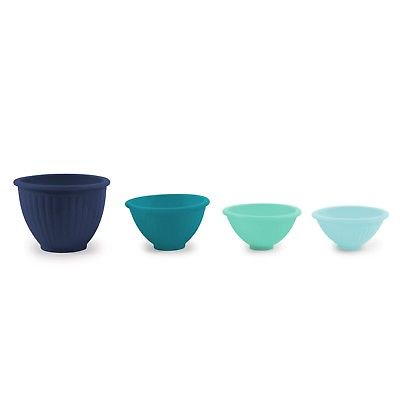 Core Kitchen Essential Cool Blues Silicone 4pc Round Pinch Bowl Set (Cool Kitchen)