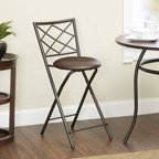 Mainstays Slat Back Folding 30 Quot Bronze Barstool Multiple