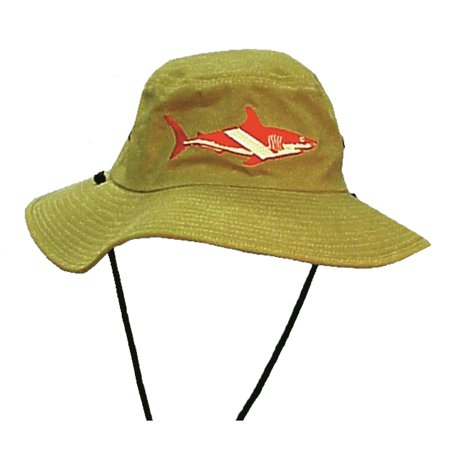 Image of Shark Dive Flag Floppy Hat (L), Seavenger's Trident Super Dive Store - For all your diving accessories By Trident