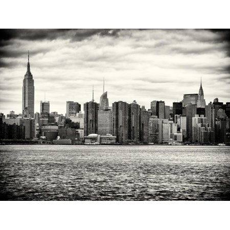 Landscape View Manhattan with the Empire State Building and Chrysler Building - New York Print Wall Art By Philippe