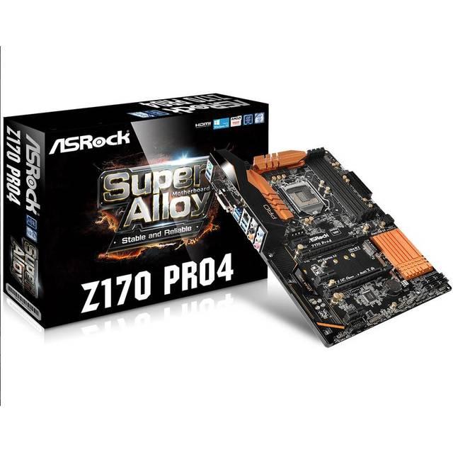 Asrock Z170PRO4 Z170 Pro4 Lga1151/ Intel Z170/ Ddr4/ Quad Crossfirex/ Sata3&usb3.0/ M.2&sata Express/ A&gbe/ Atx Motherboard