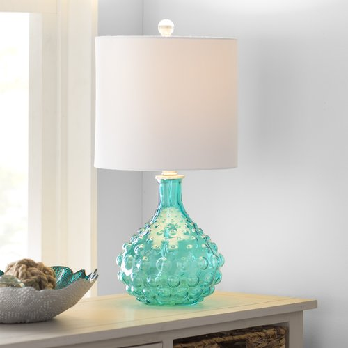 Highland Dunes O'Shaughnessy Bubble Glass 20'' Table Lamp