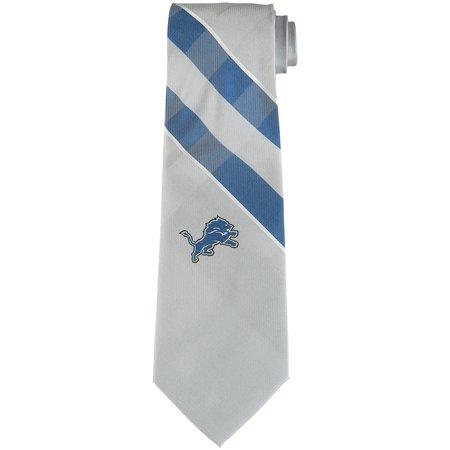 Detroit Lions Woven Poly Grid Tie - No Size