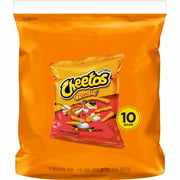 Cheetos Crunchy Cheese Flavored Snacks, 1 oz Bags, 10 Count