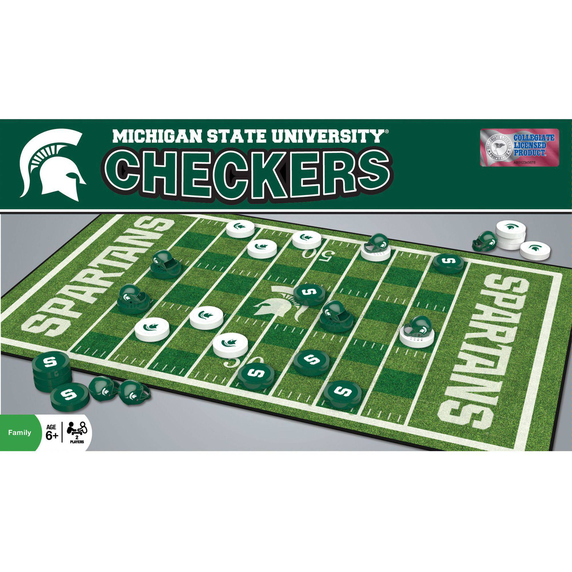 MasterPieces NCAA Michigan State Checkers Game