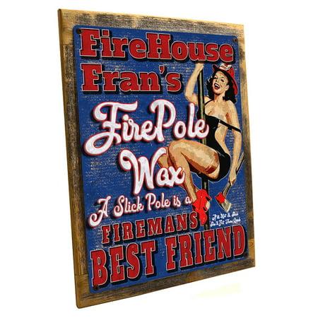 Framed, Outdoor Fire House Fran's Fire Pole Wax 9
