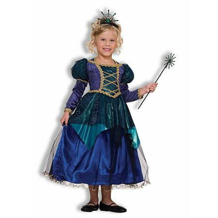 Sparkle Spider Witch Girls Child Blue Princess Halloween - Halloween Costumes Spider Girl