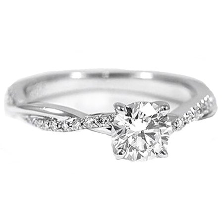 Ginger Lyne Collection Queena Stunning 925 Sterling Silver Engagement