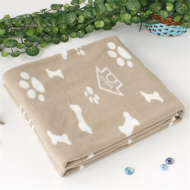 WNZJ-BLK004 Puppy Paws and Bones and Kennels Soft Coral Fleece Throw Blanket