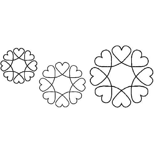 """Sten Source Quilt Stencils, 4"""", 5"""" & 7"""" Blocks"""