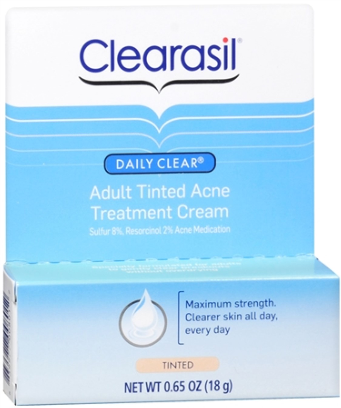 Clearasil Adult Tinted Treatment Cream 0.65 oz (Pack of 3) b. kamins bamboo & rice facial polisher, 4 fluid ounce