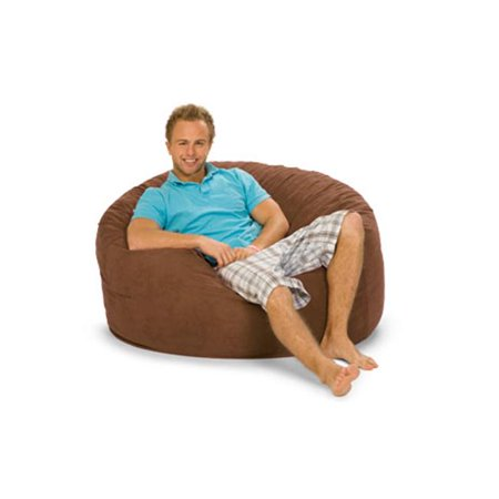 relaxsacks 4dm ms003 4 ft round relax sack microsuede earth from