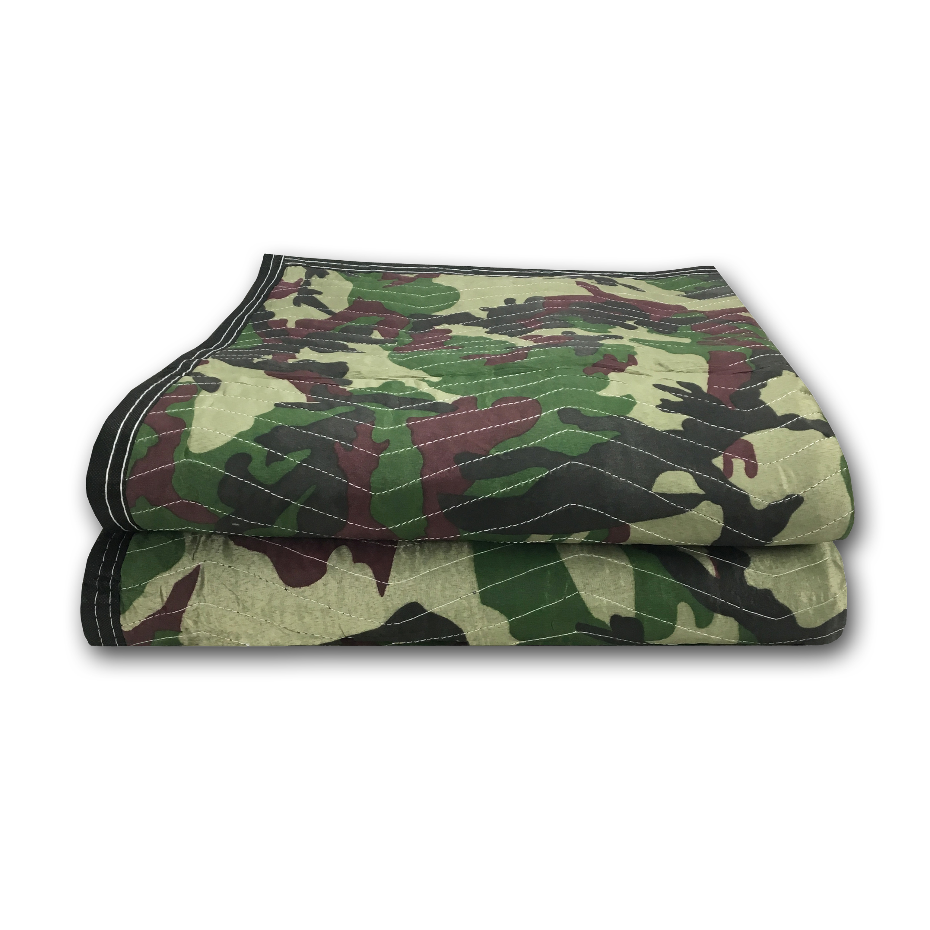 Uboxes Camo Moving Blankets, 72 x 80 in, 5.4lbs each, 2 Pack