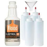 1 Quart Flood Floetrol Additive, 4X Pixiss 8-Ounce Squeeze Bottles, 1 Pixiss 2.5-Inch Funnel