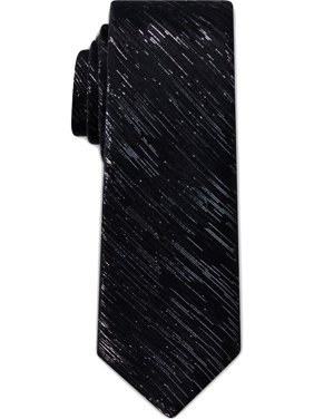 Tallia Mens Metallic Special Occasion Neck Tie Black O/S