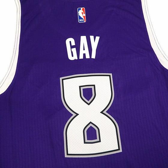 f7aaca82f19e Rudy Gay Sacramento Kings NBA Adidas Purple Official Road Away Climacool  Swingman Jersey For Men - Walmart.com