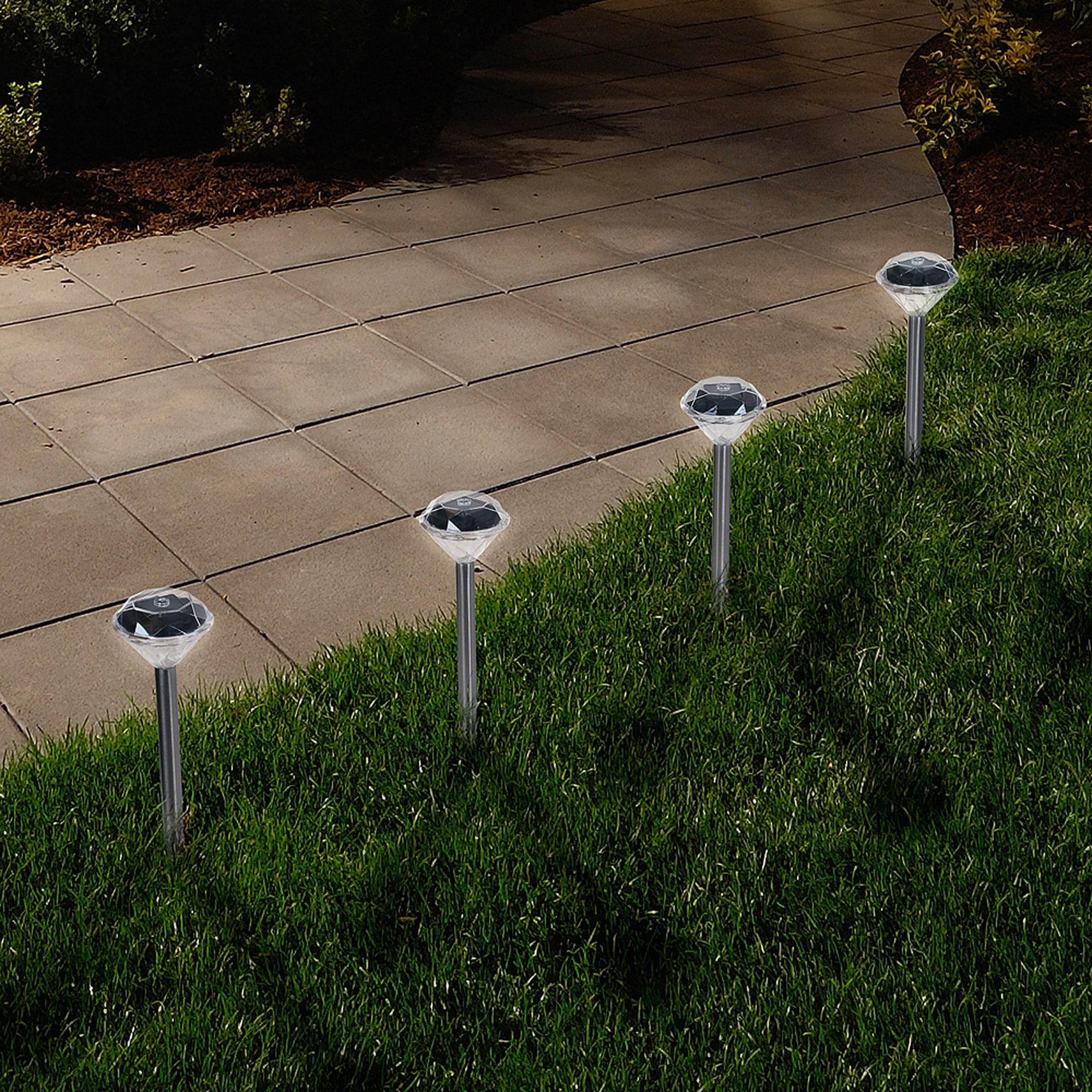 Solar Powered Lights (Set of 24) Low Voltage LED Outdoor Steak Spotlight Fixture for Gardens, Pathways, and... by Trademark Global LLC