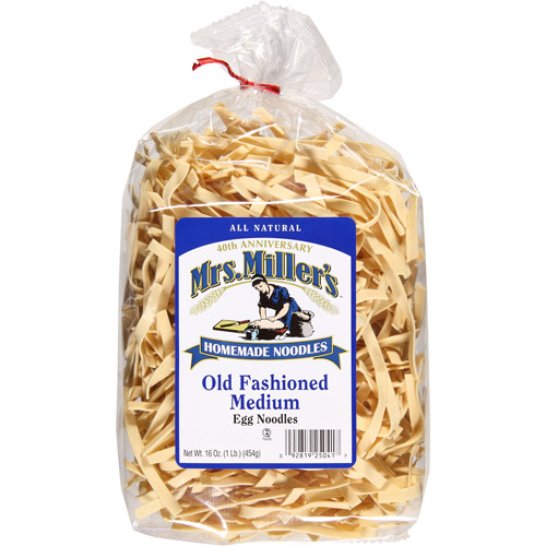 Mrs. Miller's Old Fashioned Medium Egg Noodles, 16 oz, (Pack of 6)