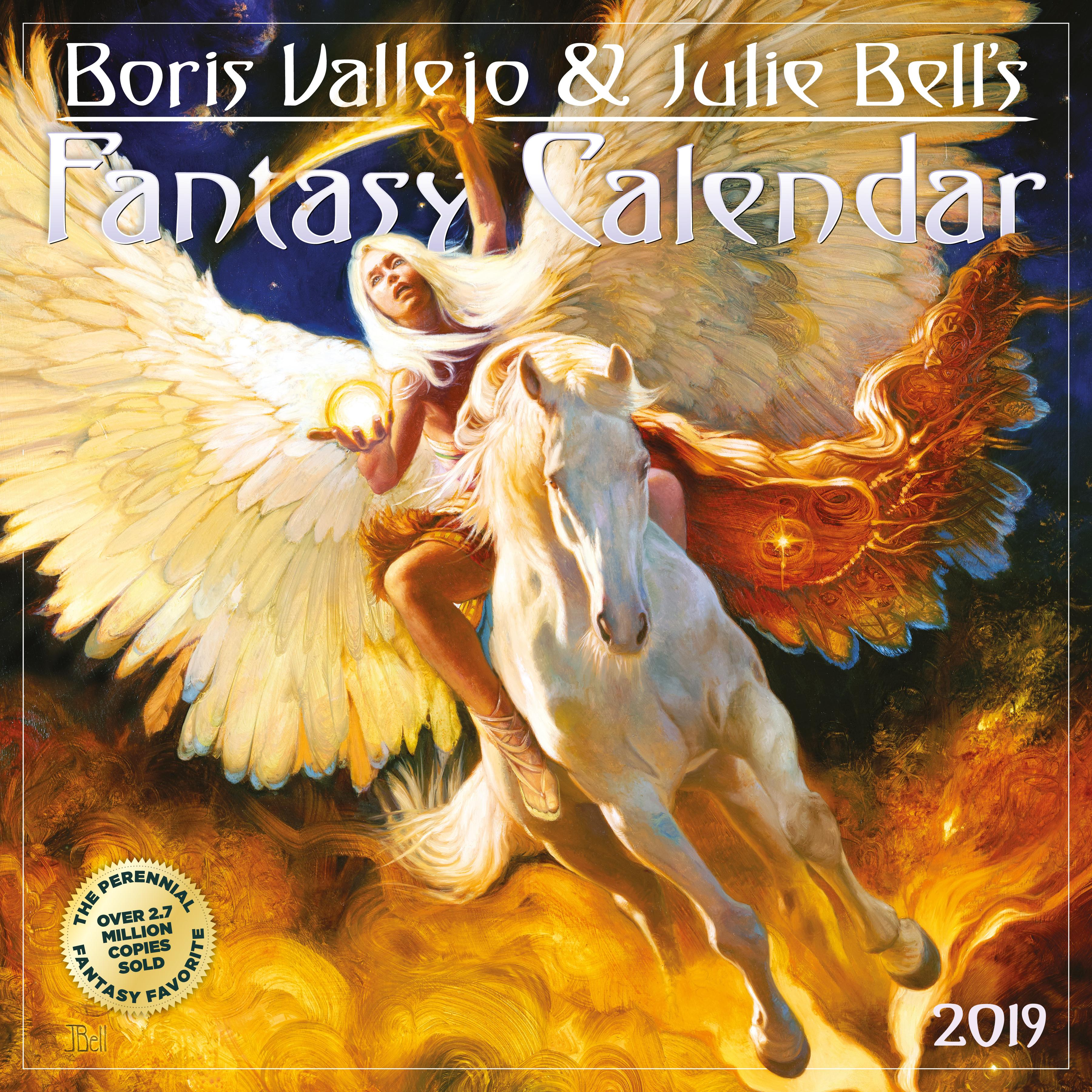 Boris Vallejo & Julie Bell's Fantasy Wall Calendar 2019 (Other)