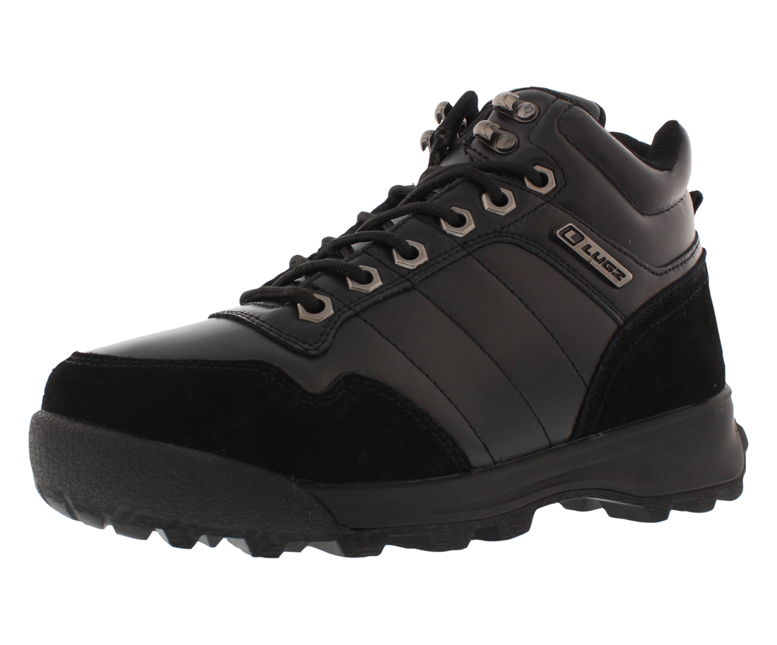 Lugz Men's Hex Boots Black Leather Boots by Lugz