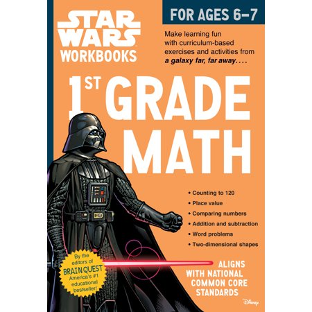 Star Wars Workbook: 1st Grade Math - Paperback](Halloween Book For First Grade)