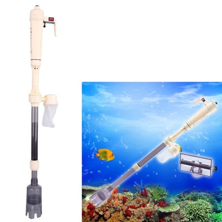 Yosoo Electric Aquarium Gravel Cleaner,Aquarium Gravel Cleaners Battery Electric Powered Fish Tank Washer Siphon Vacuum Water Changer Pump Filter
