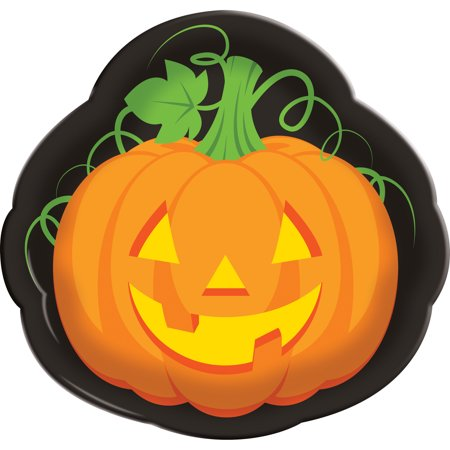 Creative Converting Halloween Pumpkin Serving Tray, 1 Pack - Halloween Platters