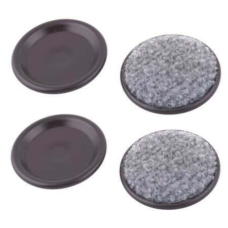 Reusable Auminum Round Furniture Slider Pad Chair Table Foot Anti Noise 4pcs ()