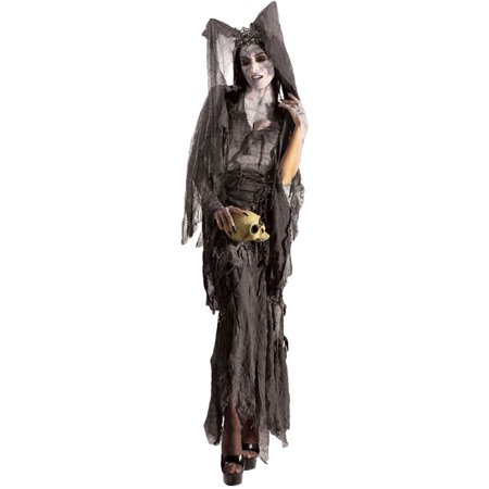 Morris Costumes Rubie's Womens Lady Gruesome Decayed look, wrinkled, shredded gown with matching, flowing headpiece Costume, Style RU888407 (Matching Costumes)