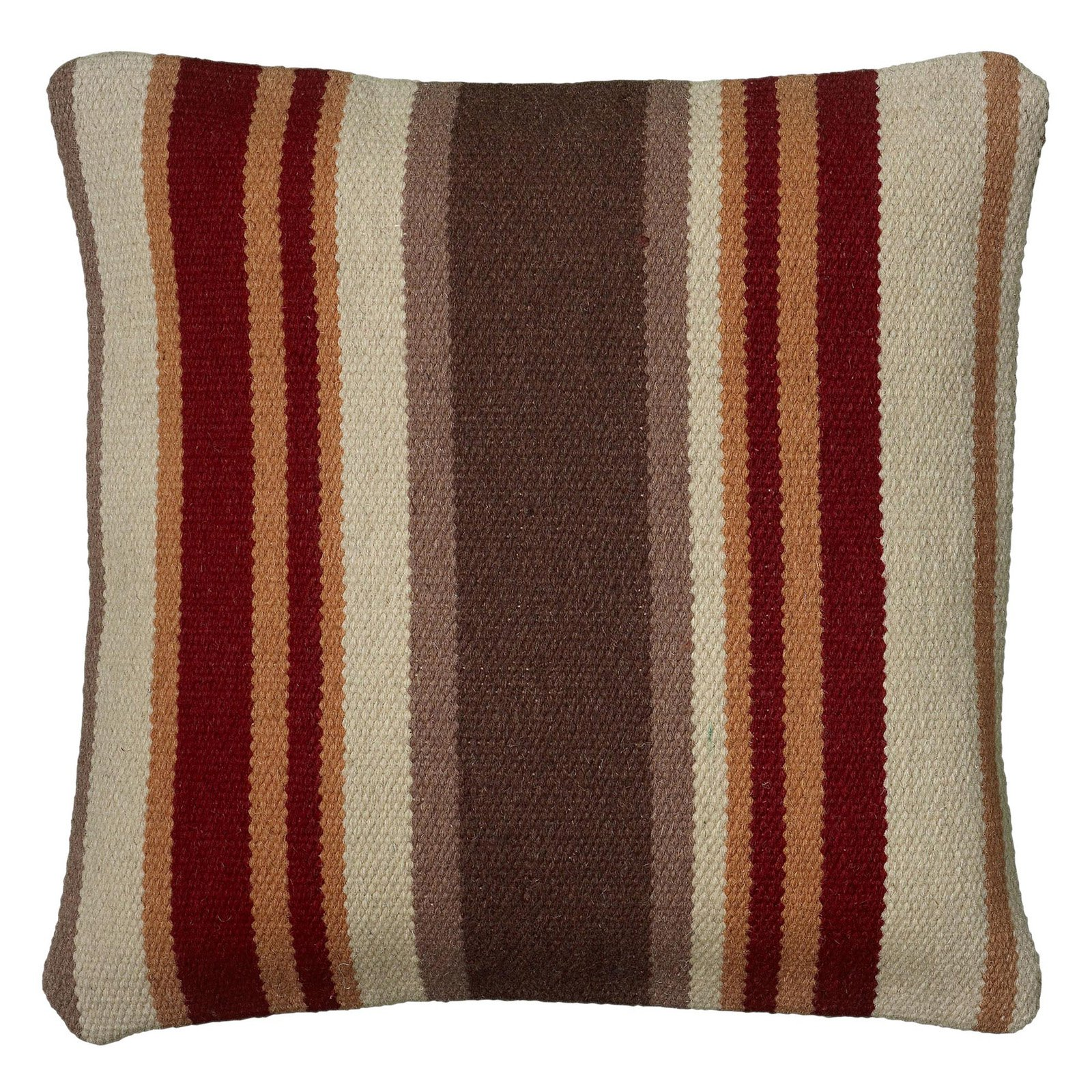 "Rizzy Home Decorative Poly Filled Throw Pillow Stripe 18""X18"" Orange"
