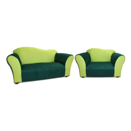 Keet Sofa Chair Wave Children Green Microsuede
