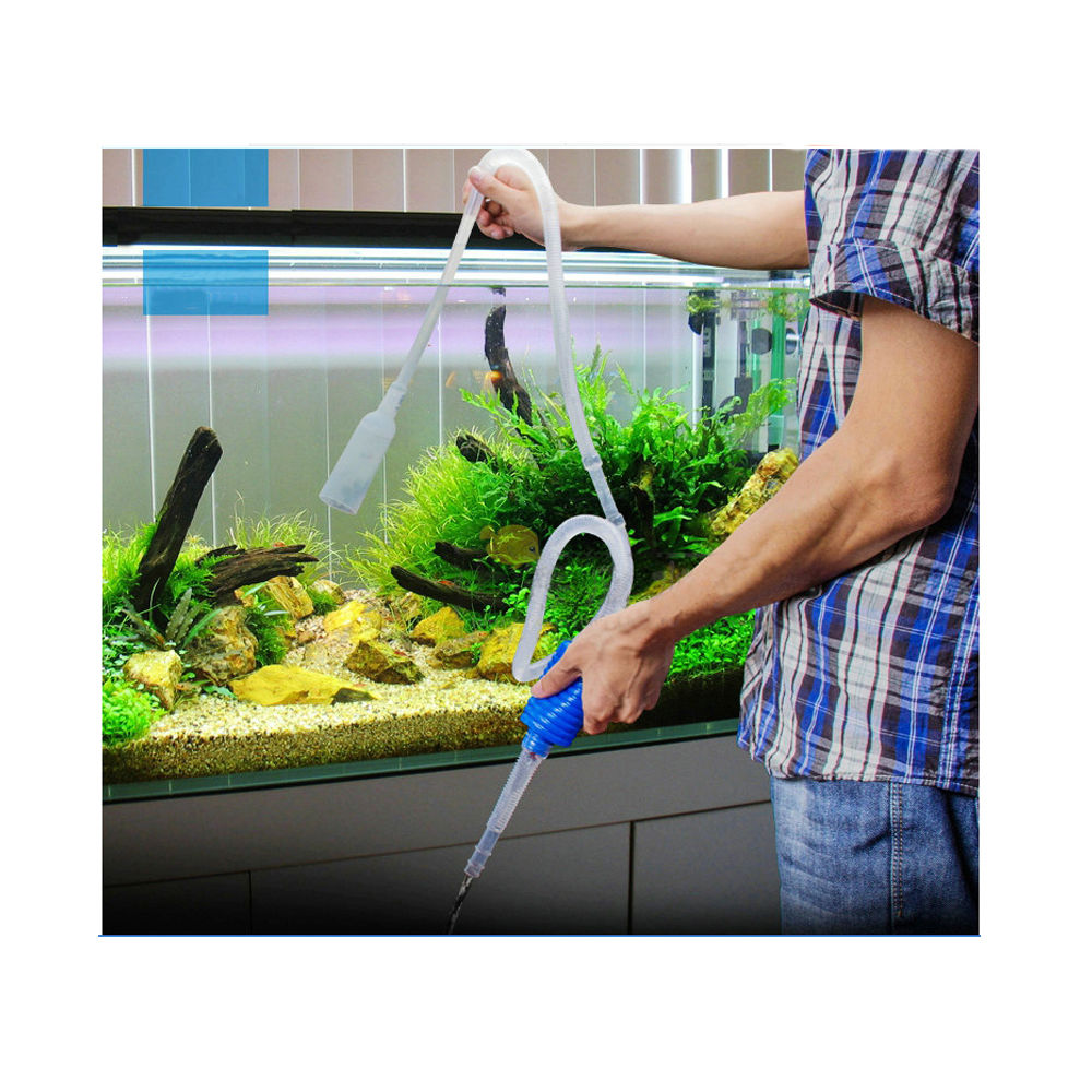 Aquarium Gravel Cleaning Syphon Fish Tank Water Siphon Pump Water Changer Tool by