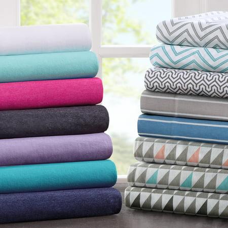 Comfort Classics Cotton Blend Jersey Knit Sheet Set Jersey Knit Body