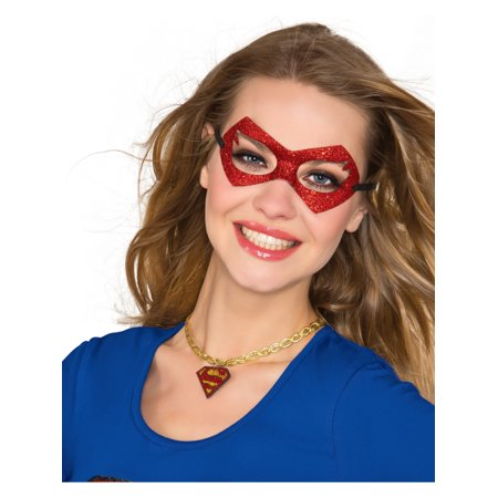 DC Comics Superhero Supergirl Choker Neckpiece Necklace Costume Accessory](Superhero Plus Size Costumes)