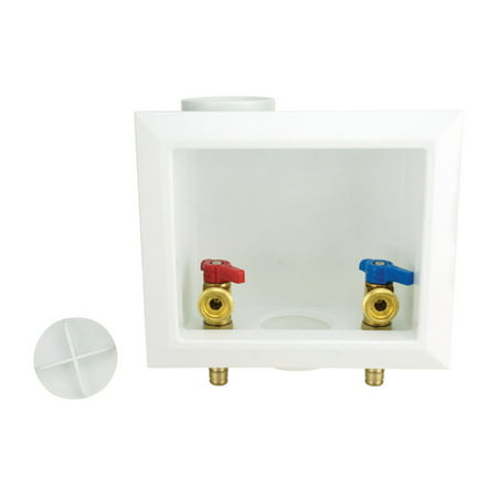 Apollo 1/2 in. Dia. Washing Machine PEX Barb Washing Machine Outlet Box - Case Of: 1; Each Pack Qty: 1; 1/2 in Brass PEX-A Barb Washing Machine OuValve Inlet Diameter: 1/2 in.Appliance Type: Washing MachineProduct Type: PEX Barb Washing Machine Outlet Box