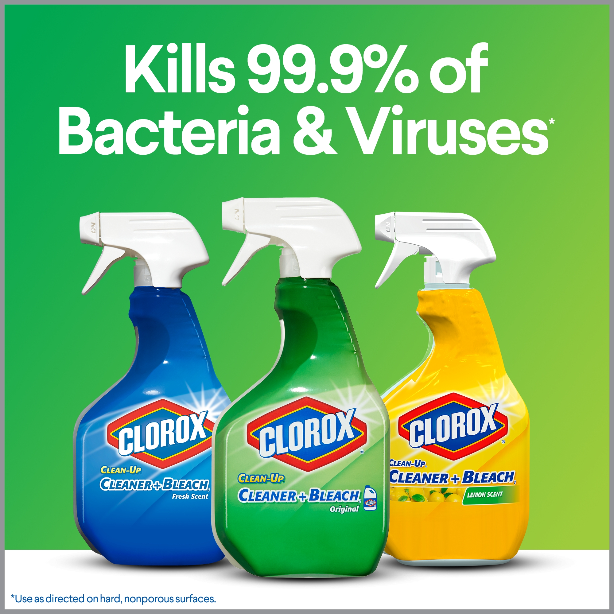 Clorox Clean-Up All Purpose Cleaner with Bleach, Spray Bottle, Lemon Scent,  32 oz