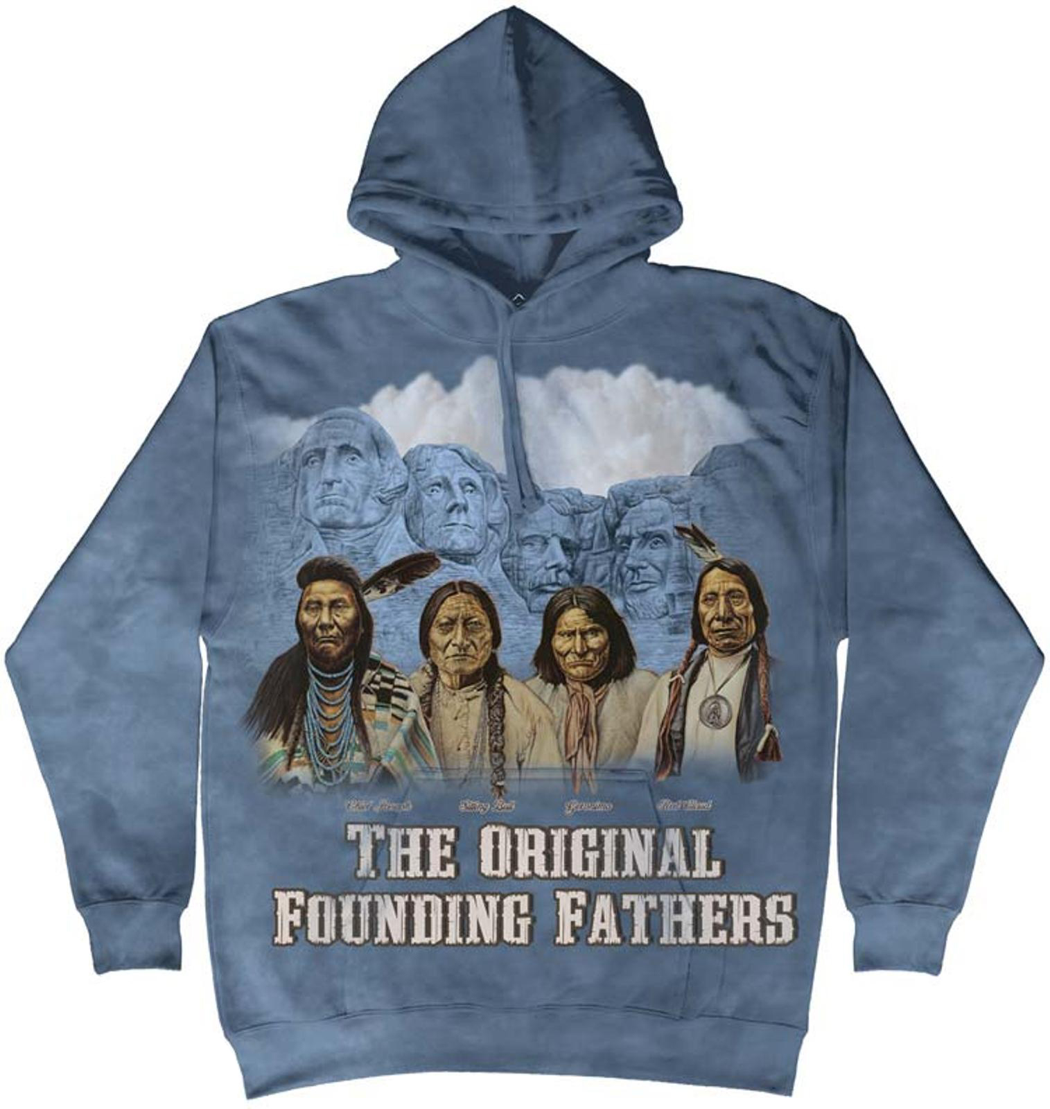 The Mountain Cotton Rushmore Orig Awesome Monument Hoodie Cool (Small) NEW