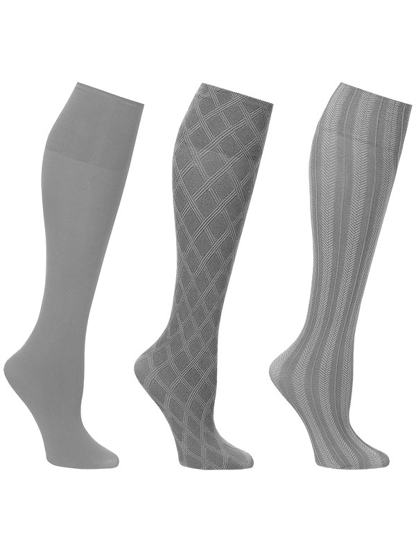 20 Pack Neutral Knee Highs Pantyhose Queen SIZE Non binding Top Made in USA