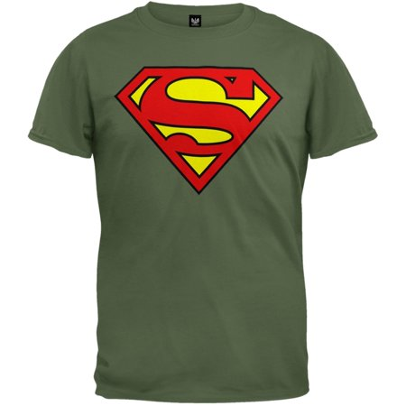 Superman - Shield Logo Moss T-Shirt (Sloth Superman Shirt)