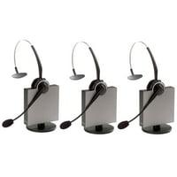 Jabra GN9125 Flex NC Mono Wireless Headset w/ PeakStop Technology & Noise-Canceling Mic (3 Pack)