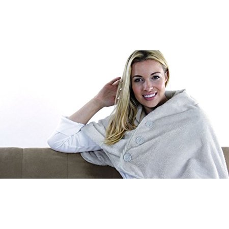Verseo Best Thermogear Portable size USB Powered Microfiber Electric Heated Shawl, Microfleece Heating Lap and Shoulder Blanket, Warmest Snuggle Microplush Material (Best Double Electric Blanket)