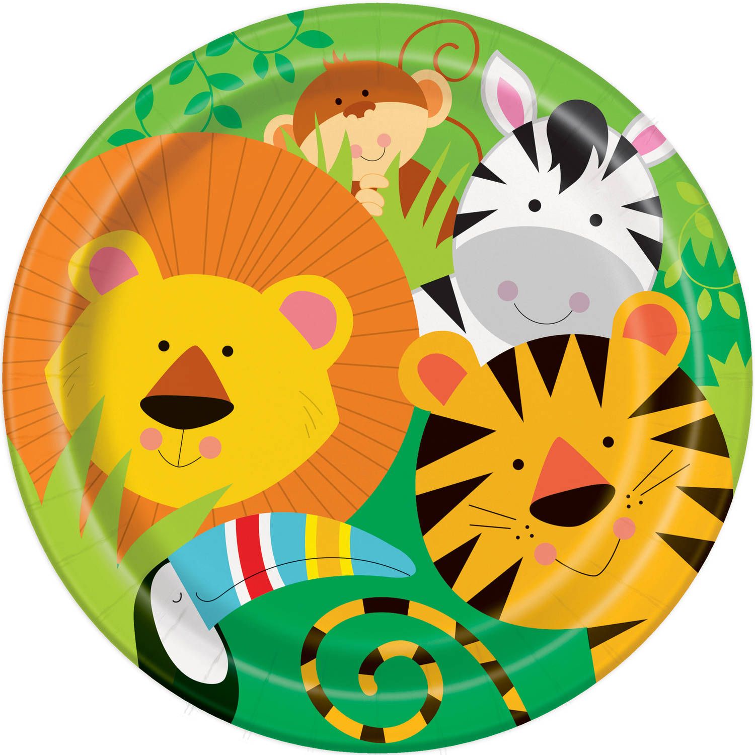"9"" Animal Jungle Party Plates, 8ct"