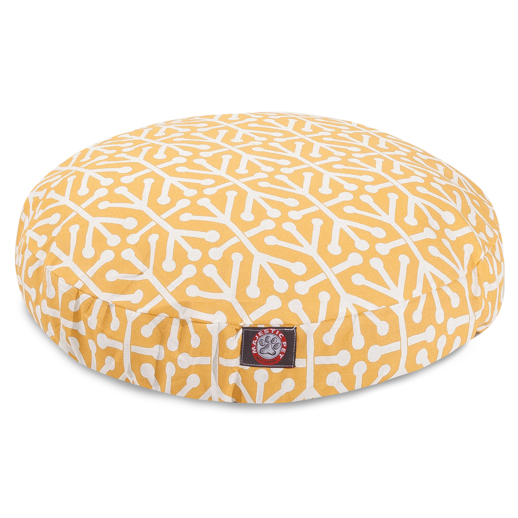 Majestic Pet Aruba Round Dog Bed Treated Polyester Removable Cover Machine Washable
