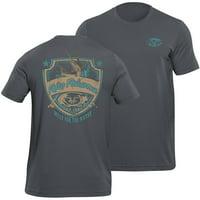 Flying Fisherman Shield Tee, Asphalt, XL