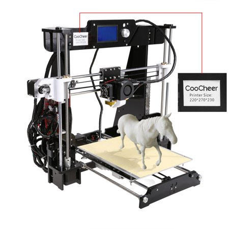 Coocheer 3D Desktop Printer Printing  High Accuracy Self Assembly Modularize Printer