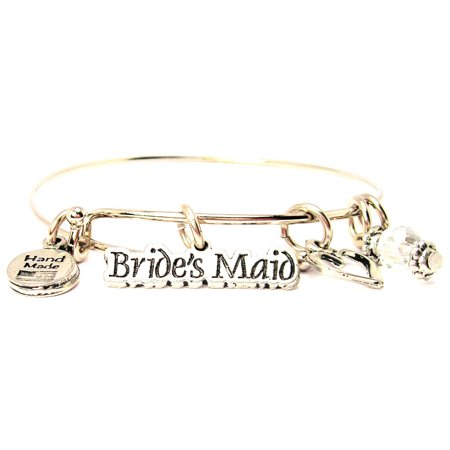 Brides Maid Bangle Bracelet  Fits 7 5  Wrist  Chubby Chico Charms Exclusive