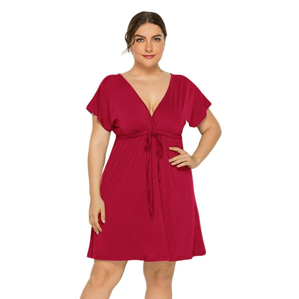 Sexy Dance - Plus Size Women Dress Summer Floral Print